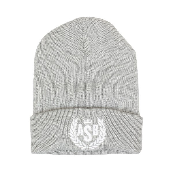 ASB Crown Embroidery Cuff Beanie - Light Grey