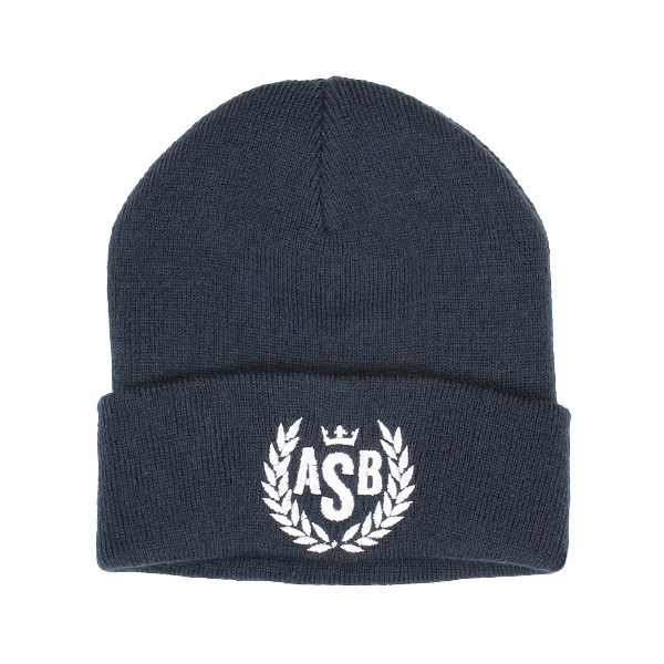 ASB Crown Embroidery Cuff Beanie - French Navy