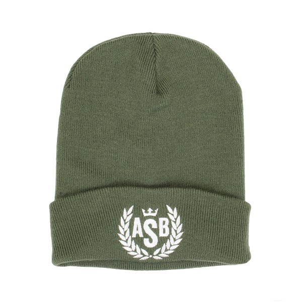 ASB Crown Embroidery Cuff Beanie - Olive