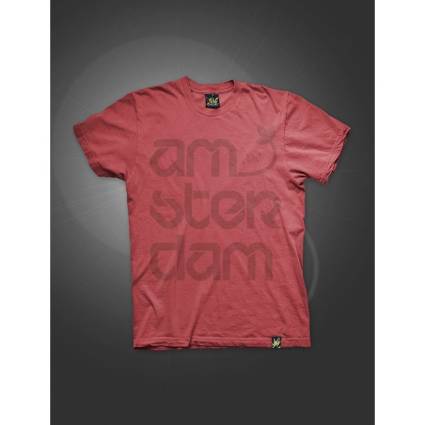 Ams-Ter-Dam T-Shirt Fire Red (ATS018)