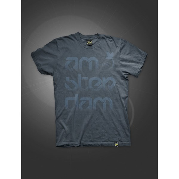 Ams-Ter-Dam T-Shirt Washed Blue Navy (ATS019)