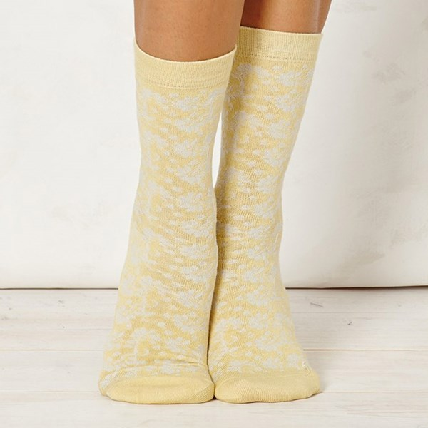 Ladies Nina Lemon Bamboo Socks