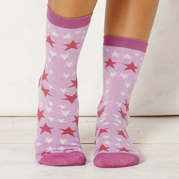 Ladies Stella Lilac Bamboo Socks