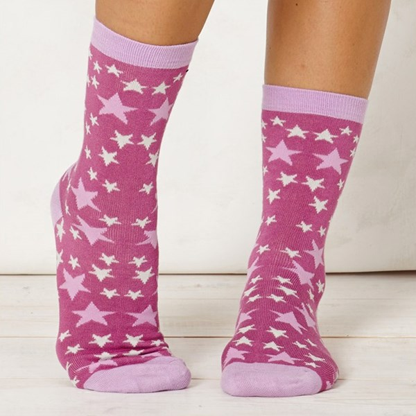 Ladies Stella Rasberry Bamboo Socks