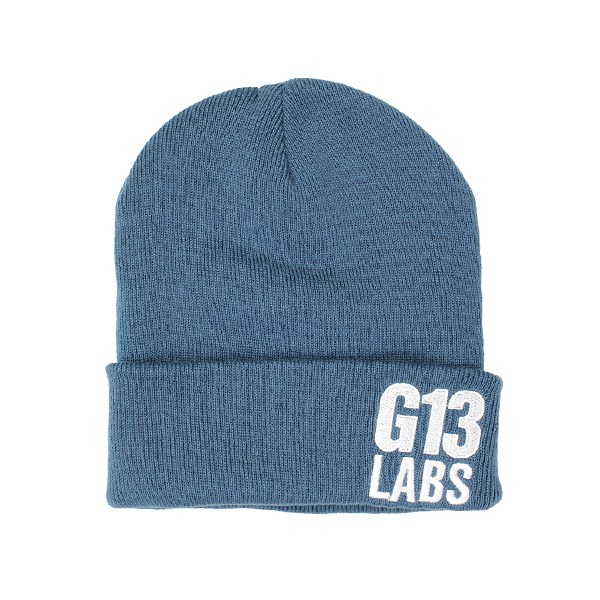 Side Trademark Embroidery Cuff Beanie Air Force Blue