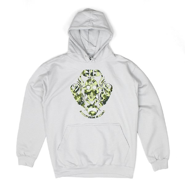 Camo Logo Hoody Light Grey