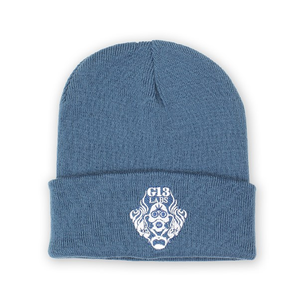 Gas Mask Logo Embroidery Cuff Beanie Air Force Blue