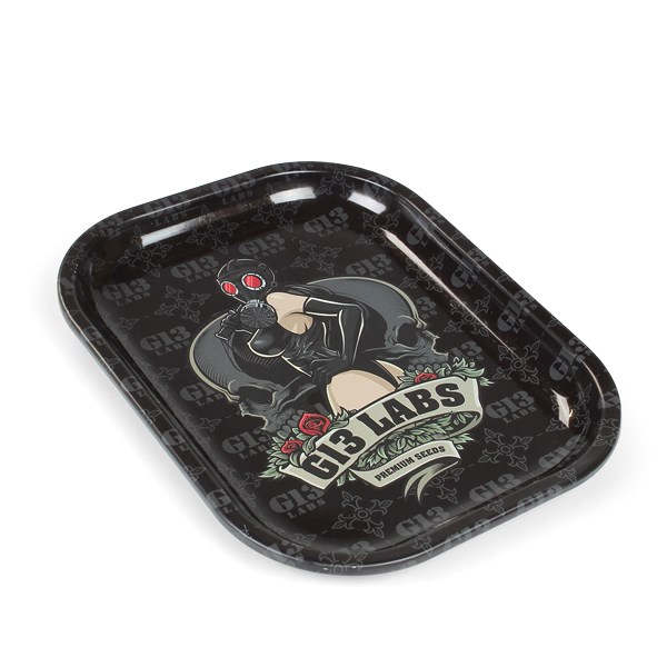 Gas Mask Lady Rolling Tray