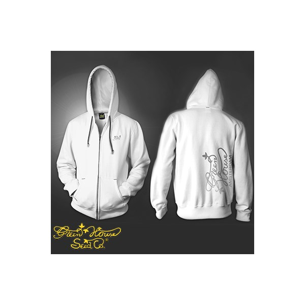 Green House Co Logo Zip Hoody White (CMHZ009)