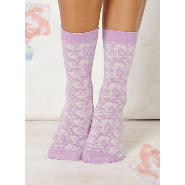 Ladies Nina Lilac Bamboo Socks