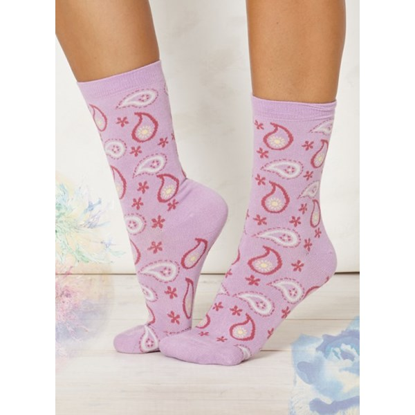Ladies Caro Lilac Bamboo Socks
