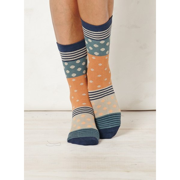 Ladies Aggie Indigo Bamboo Socks