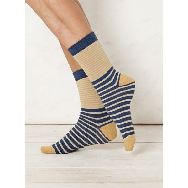 Ladies Coira Indigo Bamboo Socks
